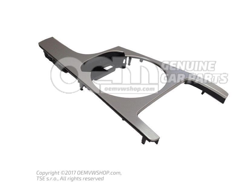 cache console centrale argent aluminium brosse 8j1863916h 1nk. Black Bedroom Furniture Sets. Home Design Ideas