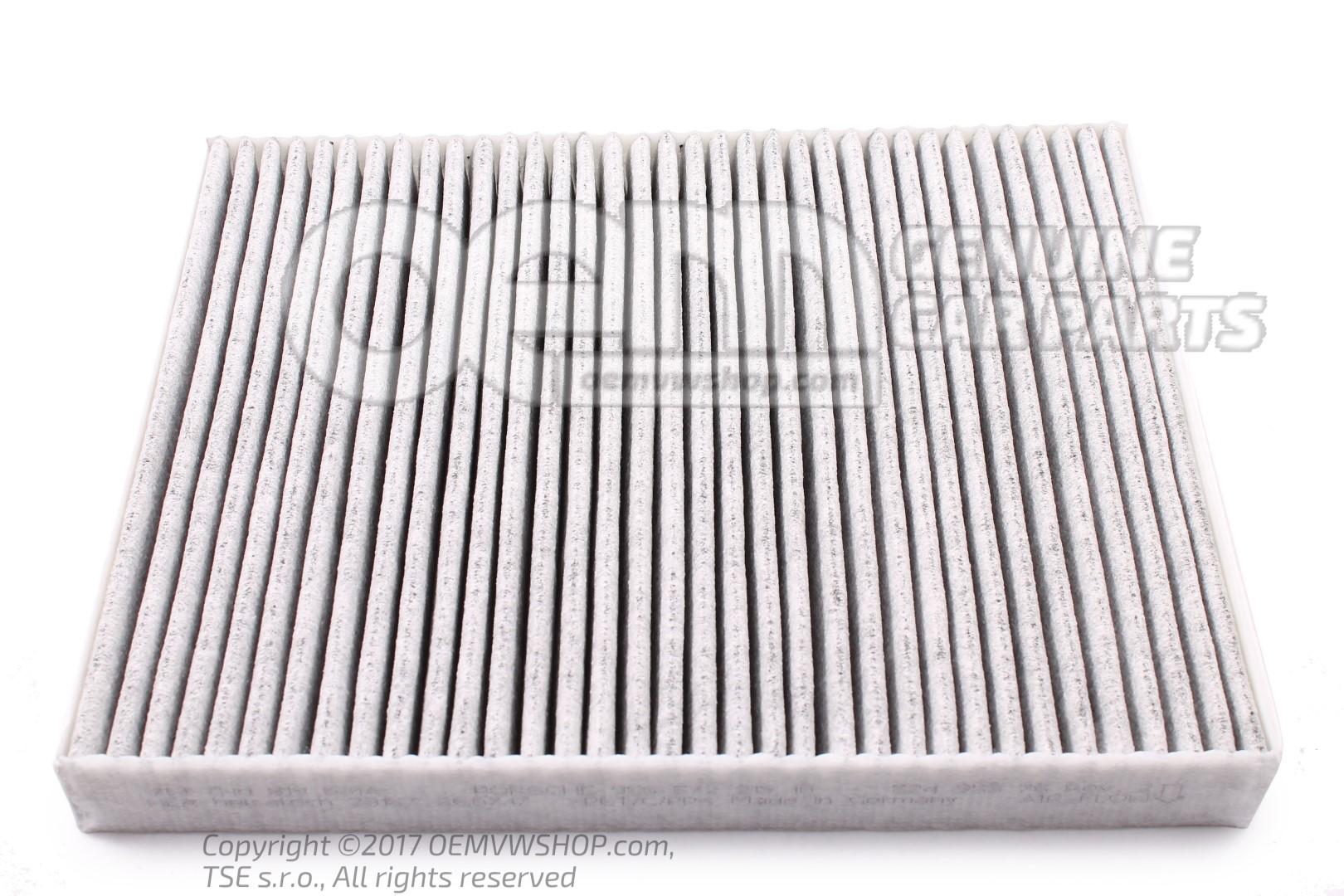 filtre a poussiere pollen cartouche avec filtre des odeurs et subst polluantes 7h0819631a. Black Bedroom Furniture Sets. Home Design Ideas