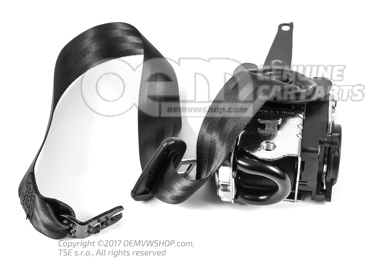ceinture de securite 3 points autom et retracteur de ceint noir 3v0857701c raa. Black Bedroom Furniture Sets. Home Design Ideas